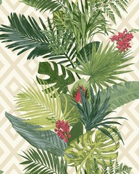 Tropical Oasis Stripe Wallpaper Bright Green by