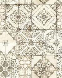 Mediterranean Tile Wallpaper Neutral by
