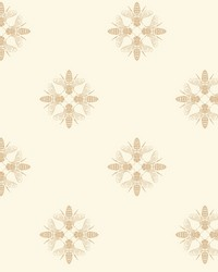 Honey Bee Wallpaper Gold Cream by