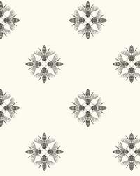 Honey Bee Wallpaper Black White by
