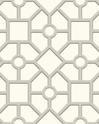 Hedgerow Trellis Wallpaper Grey by