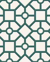 Hedgerow Trellis Wallpaper Green by