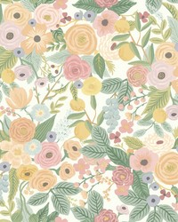 Garden Party Wallpaper Pastels by