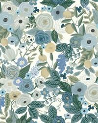 Garden Party Wallpaper Blues by
