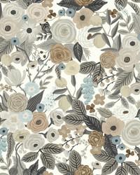 Garden Party Wallpaper Brown Beige by
