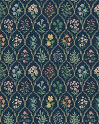 Hawthorne Wallpaper Navy by