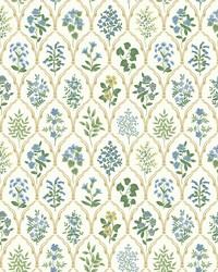Hawthorne Wallpaper Blue Green by
