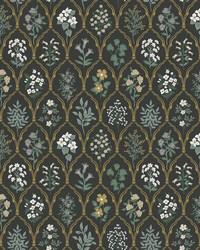 Hawthorne Wallpaper Black Cream by
