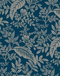 Canopy Wallpaper Indigo Silver by