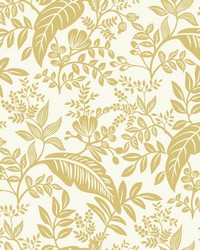Canopy Wallpaper Gold White by