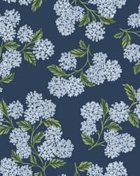 Hydrangea Wallpaper Navy by