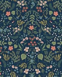 Wildwood Wallpaper Navy by