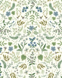 Wildwood Wallpaper Blue Green by