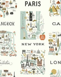 City Maps Wallpaper Mint by