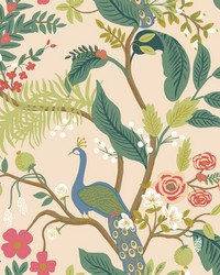 Peacock Wallpaper Light Pink by