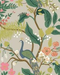 Peacock Wallpaper Linen by