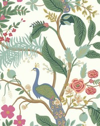 Peacock Wallpaper Periwinkle by