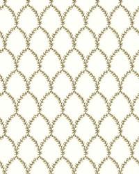 Laurel Wallpaper Gold White by