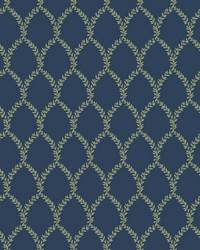 Laurel Wallpaper Navy by