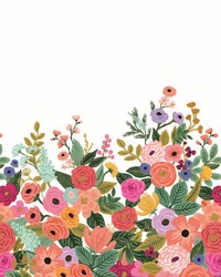 Garden Party Wallpaper Mural Cream Bright Pink by