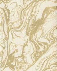 Modern Marble Wallpaper cream  metallic gold by