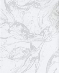 Modern Marble Wallpaper white  metallic silver by
