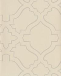 Arabesque Wallpaper cream  metallic silver by