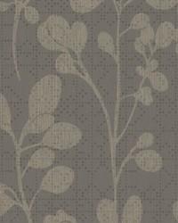 Sprig Wallpaper Gray Beige by