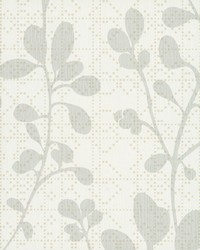 Sprig Wallpaper White by