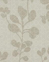 Sprig Wallpaper Gray by