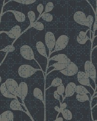 Sprig Wallpaper Blue by