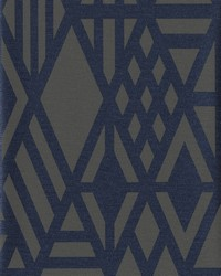 Wrought Iron Wallpaper Blue by