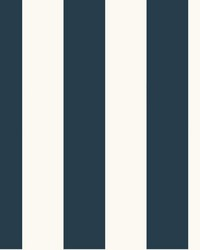 Awning Stripe Wallpaper Navy by