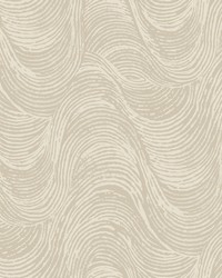 Great Wave Wallpaper - Pewter White Off Whites by