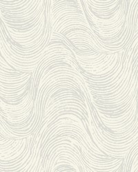 Great Wave Wallpaper - Gray White White Off Whites by