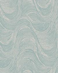 Great Wave Wallpaper - Silver Blue Blues by