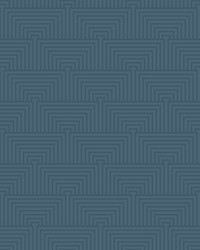 Kinetic Wallpaper - Navy W Iridescent Blues by