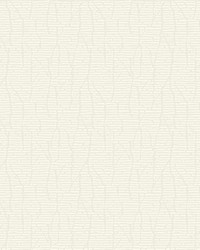 Restoration Wallpaper - White with Iridescent White Off Whites by