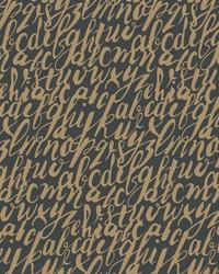 Chateau Wallpaper - Gold Black Blacks by