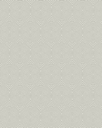 Concentric Wallpaper - Gray W Iridescent White Off Whites by