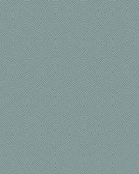 Concentric Wallpaper - Slate W Iridescent Blues by