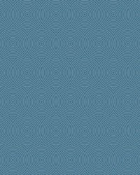Concentric Wallpaper - Navy W Iridescent Blues by
