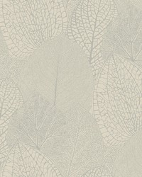 Seasons Wallpaper - Taupe W Iridescent Metallics by