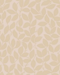 Leaf and Vine Wallpaper - Blush Pinks by