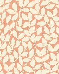 Leaf and Vine Wallpaper - Tangerine Oranges by
