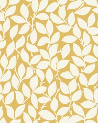 Leaf and Vine Wallpaper - Citrine Yellows by