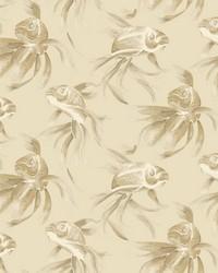 Koi Wallpaper Beige by