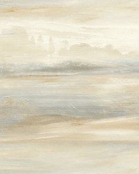 Soothing Mists Scenic Wallpaper Tan by