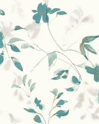 Linden Flower Wallpaper Teal by