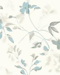 Linden Flower Wallpaper Blue by
